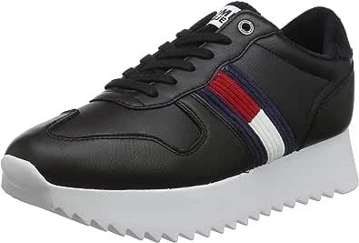 Tommy Hilfiger High Cleated Seasonal Sneaker, Scarpe da Ginnastica Basse Donna