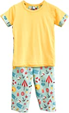 Frangipani Unisex Cotton Marina Musing Pyjama Set