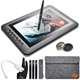 Parblo Mast10 10,1 Zoll Grafikmonitor Drawing Pen Tablet Pen Display mit Tastenkombinationen und batteriefreien Stift Passiver Stylus + Mini DisplayPort auf HDMI Adapter für Mac