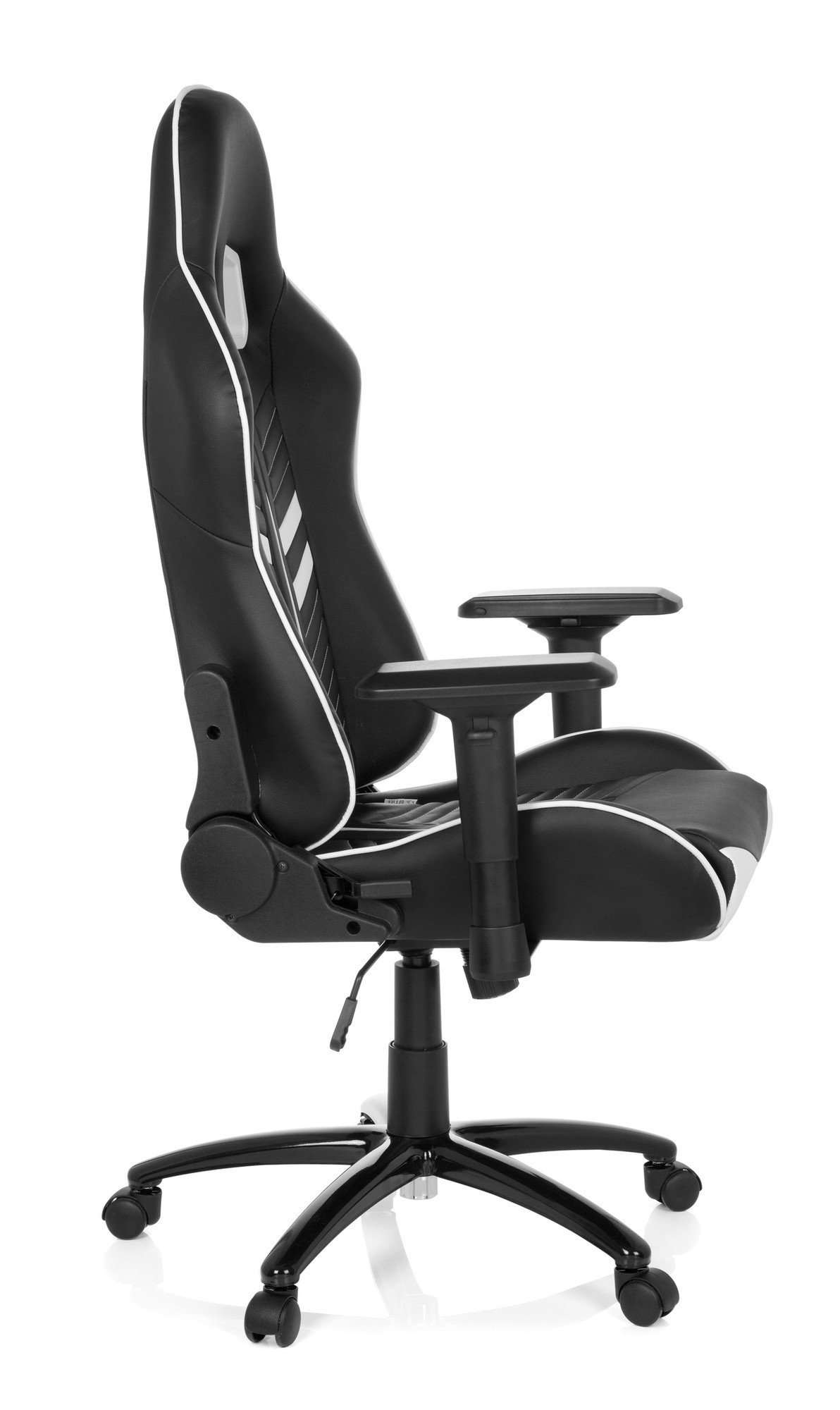 hjh OFFICE 729200 Silla Gaming League Pro Piel sintética Negro/Blanco Silla Escritorio