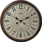 ساعة حائط من دوجانا، بني غامق وبيج، DWG322-DARK BROWN-beige