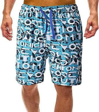 COOFANDY Badehose Herren Badehose Kurz Eng Sommer mit Tunnelzug Taschen Schwimm Schorts Strand Kontrast Sportlich Elastische Schnelltrocknende Einfarbige Badeshorts f/ür M/änner