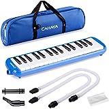 CAHAYA Mélodica 32 Touches avec Etui et Embout Flexible en plastique pour Enfants, Amateur de Musique, Bleu