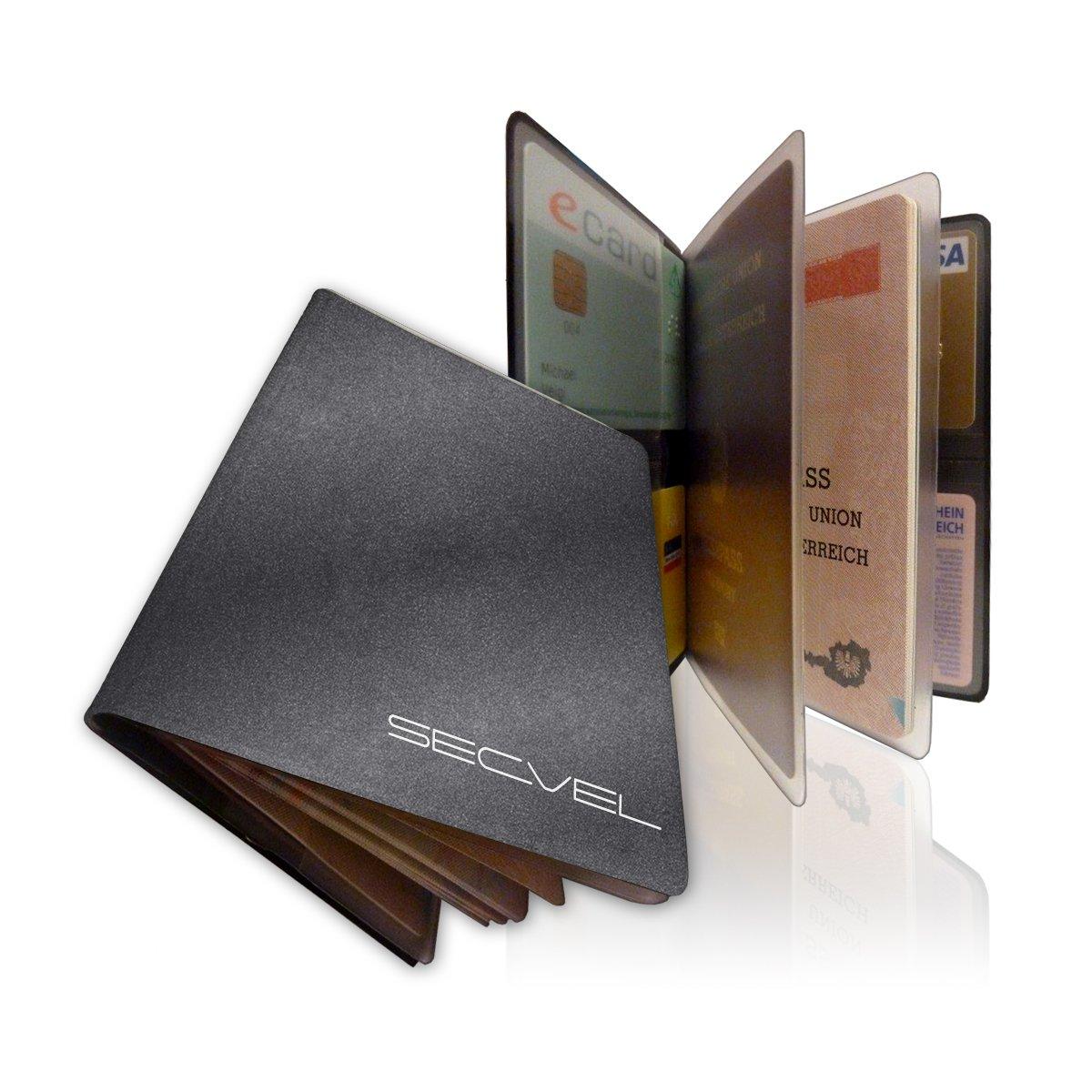 SECVEL Porta passaporto Premium � protezione RFID/NFC & campi magnetici (per 1 passaporto, 4 ca
