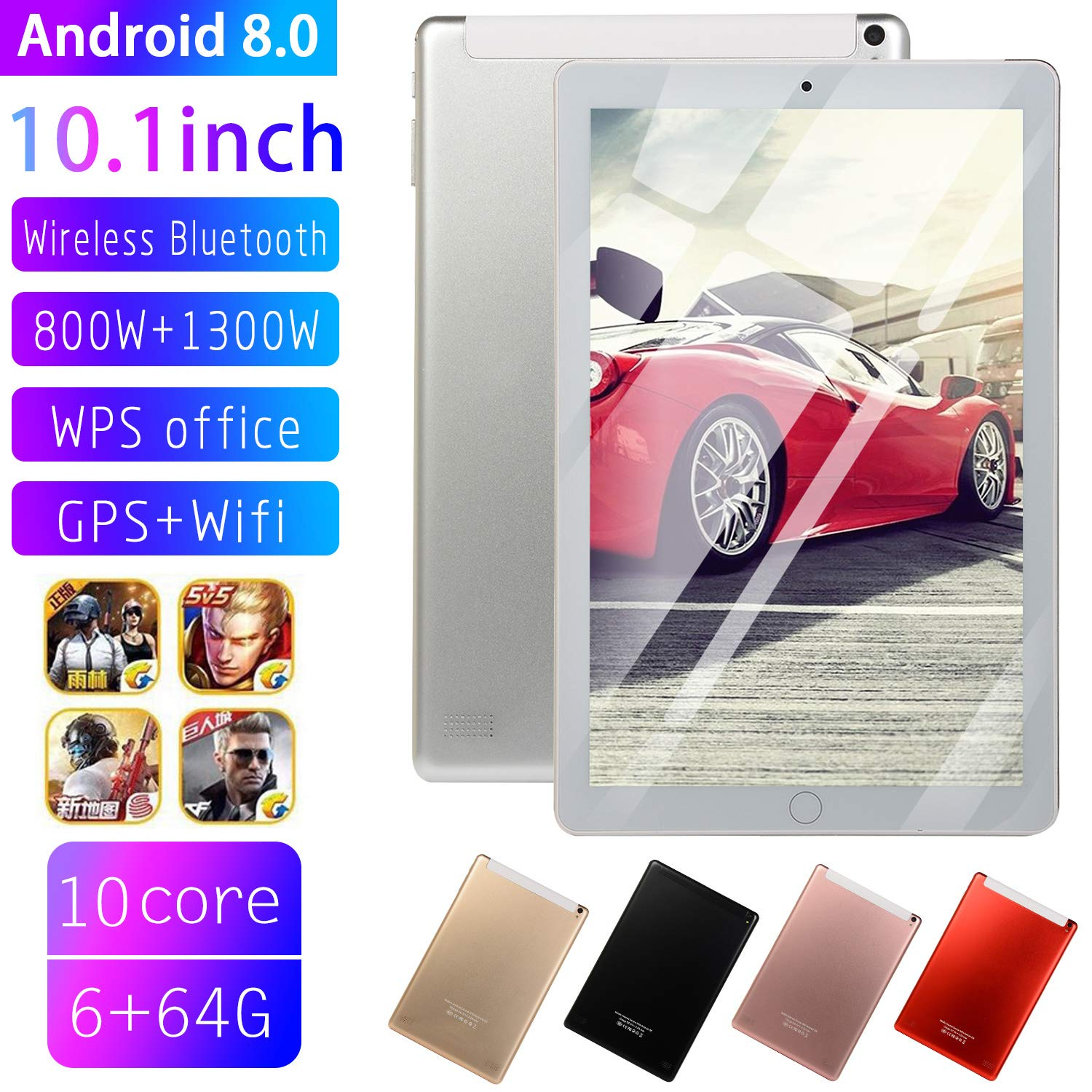 EDTara 10.1 Inch Ten-Core Tablet PC 64GB WiFi HD Touch Screen
