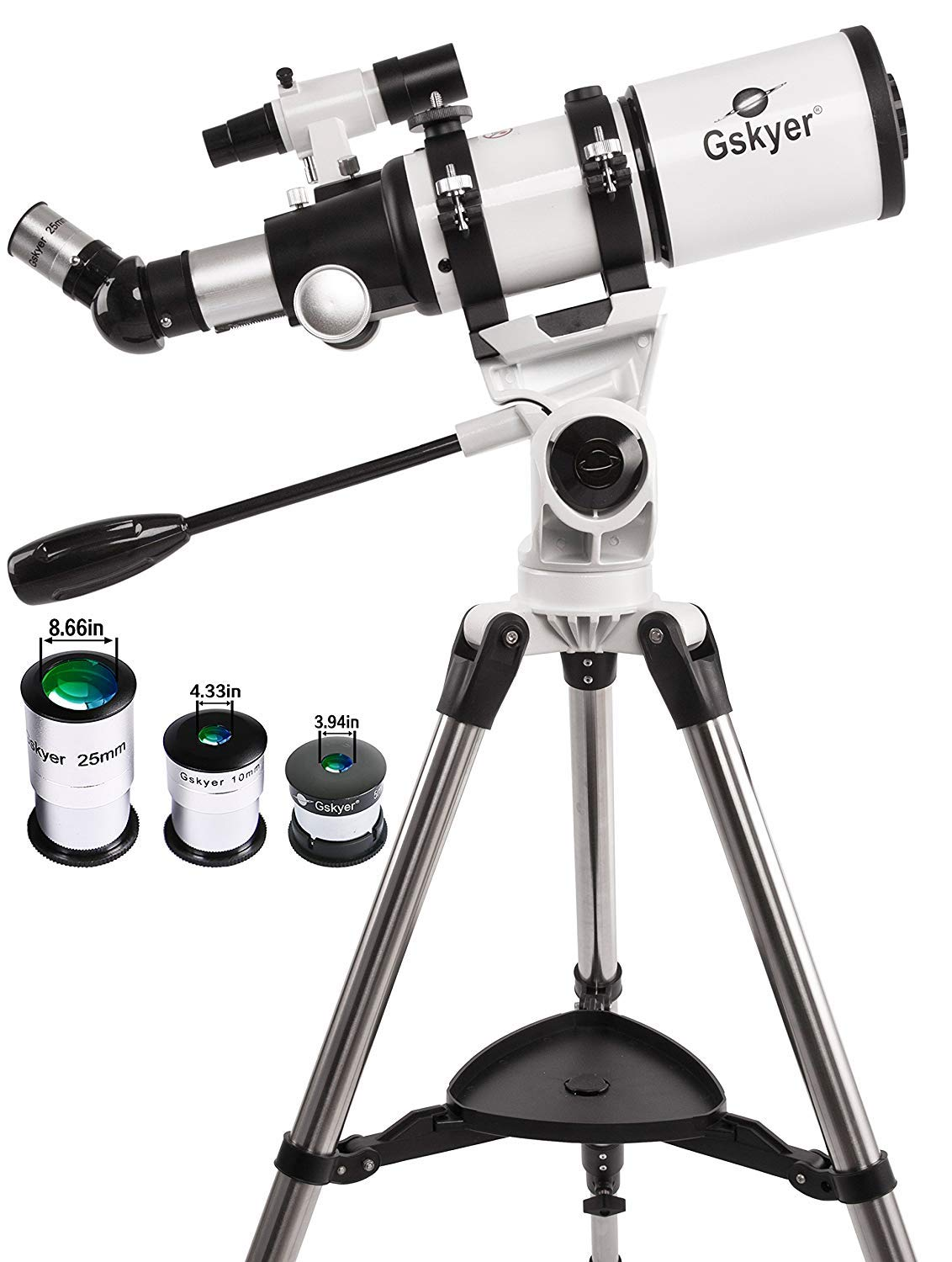 Gskyer Telescope, 80mm Aperture 400mm AZ, Astronomy Refractor Telescope with Smartphone Adapter and Bluetooth Camera Remote