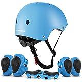ValueTalks Protección Patinaje, Protección Infantil Consta de Casco Ajustable Rodilleras Coderas, Patinaje Ciclismo Monopatín