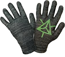 GliderGloves Copper Infused Touch Screen Gloves - Compatible with Iphones, Androids, Ipads, Tablets - Anti Slip Palm For Driving & Phone Grip