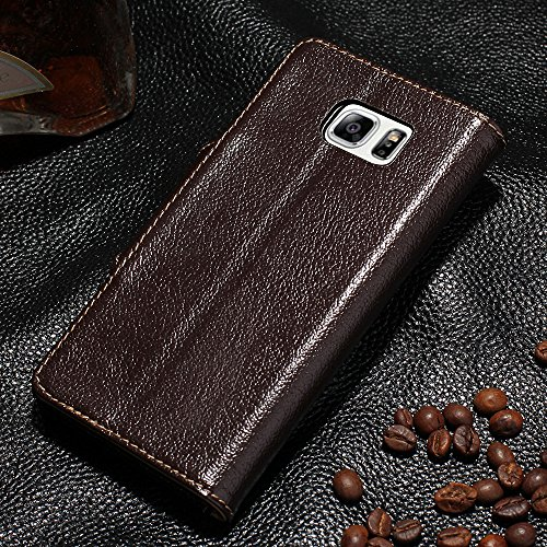 GALAXY S6 Edge Plus Etui,EVERGREENBUYING - Coque Portefeuille Cuir avec stand G9280 Premium Etui de Protection [Card Slot Vintage Series] Case Cover pour Samsung Galaxy S6 Edge Plus Vin Rouge Marron foncé