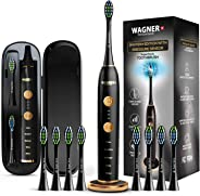 WAGNER Switzerland WHITEN+ EDITION. Smart electric toothbrush with PRESSURE SENSOR. 5 Brushing Modes and 3 INTENSITY Levels,