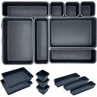 ETOILE Lot de 8 Organisateur Tiroir Bureau Cuisine Plateaux Rangement de Tiroir Séparateurs de Tiroir en Plastique Très…