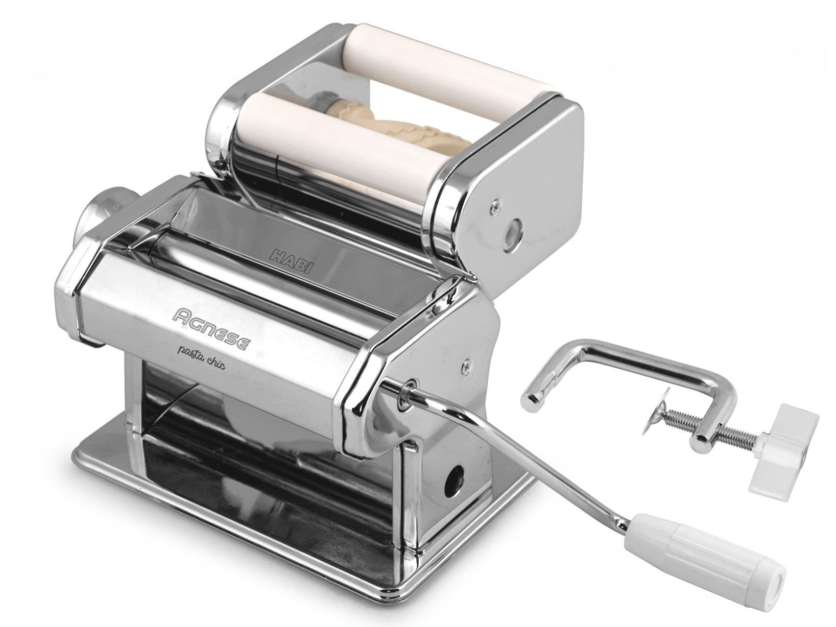 Habi 8409700 Macchina Pasta per Tortellini, 150 mm, Inossidabile, Acciaio