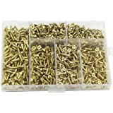 TAIANJI 1200 Stks Kleine Schroeven Assortiment Kit voor Hout Platte Hoofd Staal Schroeven Assortiment Set 5mm 6mm 7mm 8mm 10m