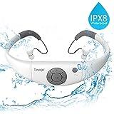 Tayogo MP3-Player, wasserdicht, mit Kopfhörern, 8 GB IPX8 Hi 3 m unter Wasser Schwimmen Wasserdicht 60 ℃ ideal zum Laufen, Reiten und andere Spa mit Wasser oder Sweat
