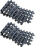 Lescars Anfahrtshilfen: 2er-Set Anfahrhilfe mit Tragetasche, 80 x 22 cm (Anfahrthilfe)