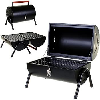 24b83e18fd09e3 Marko Outdoor BBQ Portable Barrel Barbecue Steel Table Top Outdoor Garden  Camping Picnic Grill