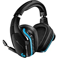 Logitech G935 kabelloses Gaming-Headset mit LIGHTSYNC RGB, 7.1 Surround Sound, DTS Headphone:X 2.0, 50mm Treiber, Flip…