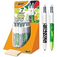 BIC 4 Colours Velours Penne A Sfera Con Motivo Giungla E Punta Media (1,0 mm) - Confezione Da 30
