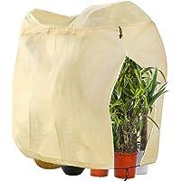 DIAOPROTECT Winterschutz für Pflanzen, Winterschutz für Kübelpflanzen,Frostschutz Pflanzen Winter mit Reißverschluss und…
