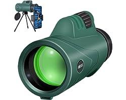 SH.RATE Monokular Teleskop,10X42 HD Fernrohr Monocular Handfernrohr Tragbar Fernglas Tragbarobjektiv FMC BAK4 Wasserdicht mit