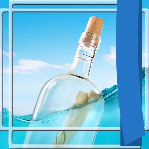 Flasche Fotorahmen (Lotion Strand)