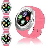FENHOO Smartwatch SN05 Rotondo Smart Watch con Slot per Scheda SIM, Touch Screen Contapassi Musica Compatibile con Samsung Hu