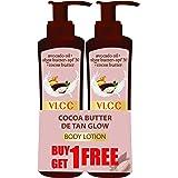 VLCC Cocoa Butter Detan Glow SPF 30 | PA+++, 400 ml (Buy 1 Get 1 Free) Dry Skin