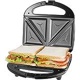 OSTBA Sandwichera Electrica con Capacidad para 2 Sándwiches Tostados de 750W, Toast Acero Inoxidable Antiadherente 2 Sandwich