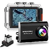 Apexcam Action Cam Pro【Aggiornato】4K 20MP Fotocamera EIS WIFI 2 Pollici Ultra HD Impermeabile 40M Sott'acqua con Mic…