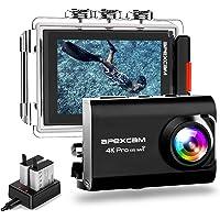 Apexcam Action cam 4K 20MP Sportkamera EIS WiFi wasserdichte Unterwasserkamera 40M Externes Mikrofon 2.0'LCD 170…