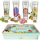 Handcrème Collectie Cadeauset 4X25 ml Un Air d'Antan/Shea Butter, Aloë Vera, Arganolie/In Een Mooie Blikken Doos/4 Geuren Uit