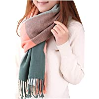 Chalier Ladies Scarf and Shawl Winter Ladies Scarves Blanket Scarf for Women Tartan Scarf Ladies Gifts