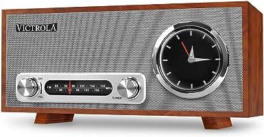 Victrola Broadway Bluetooth-Uhrenradio mit Analoganzeige – Mahagoni