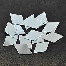 Embroiderymaterial Shisha Mirrors for Embroidery and Craft Purpose, Diamond Shape, 24*15MM, 100Pcs