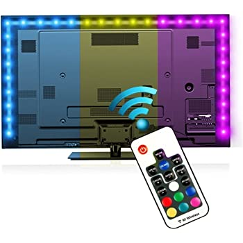 LED TV Backlight,Reignet 6.6ft RGB Bias Lighting for 40-60 inch HDTV, USB Powered LED Light Strip with RF Remote for Flat Screen TV PC