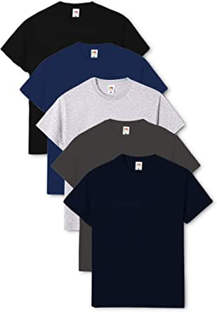 Fruit of the Loom Men's Valueweight Short Sleeve T-Shirt (Pack of 5)