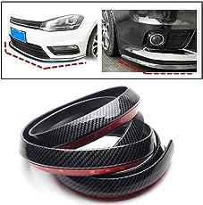PR Carbon Finish Front Bumper Lip Stickon Car Body Kit Bumper Lip Side Skirt Rubber Edge Decorative Protector Trim-For Maruti Baleno