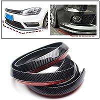 PRIKNIK Carbon Finish Front Bumper Lip Stickon Car Body Kit Bumper Lip Side Skirt Rubber Edge Decorative Protector Trim…