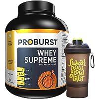 Proburst Supreme Whey Protein Powder With Glutamine & BCAAs 2 Kg |60 Servings | 24 gm Protein Per Serving -(Mango Mlikshake Flavour) with Shaker