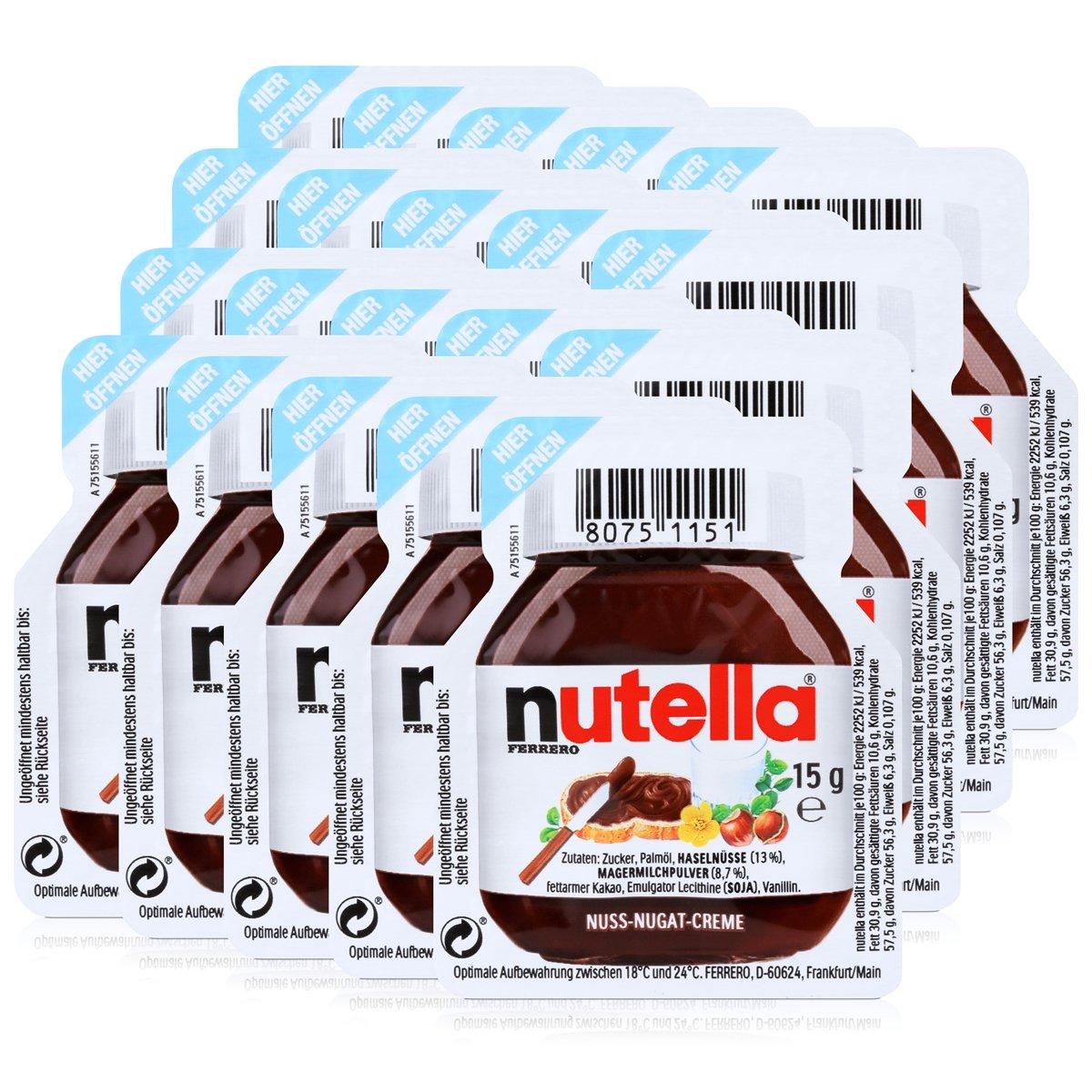 20 Nutella â € » 20 x 15g servir