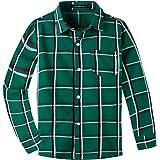 Spring&Gege Camisa informal de manga larga con botones para niños (5-14 años)