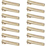 DeD 50 Pcs 4.5cm Gold Alligator Clips Metal Clips for DIY Hair Bows Accessories Alligator Clip(4.5CM-1.8inches)