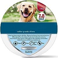 Collare Antiparassitario per Cani di Grandi Dimensioni,8 Mesi di Protezione pulci e zecche Collare Cane- Oltre 18 lb…