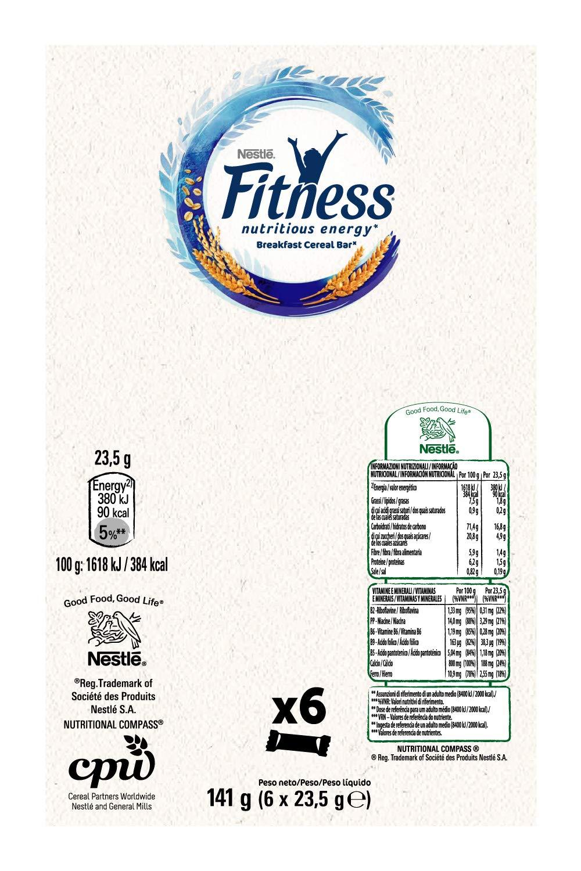 Fitness Naturale Barretta di Cereali Integrali, 6 Pezzi 3 spesavip