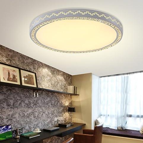 YESDA LED 60W Lampe Kristall Deckenleuchte Runden Wandlampe Deckenlampe Flur  Leuchte Für Wohnzimmer Schlafzimmer Korridor (60W Warmweiß Ohne  Fernbedienung): ...