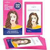 Anjou Nose Strips for Blackhead Remover, 32pcs Deep Cleansing Pore Strips of Blackheads Removal, Nose Pore Strips of New…