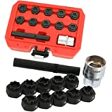 DR TOOLS for Mercedes Benz 5pc Coil Spring Telescopic Compressor Shock Absorber Repair Tool