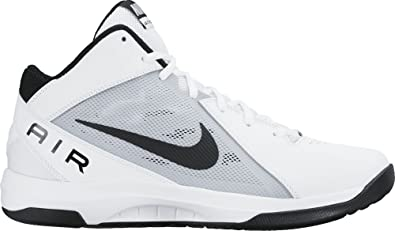 nike shoes white and black high top. nike men\u0027s the air overplay ix white, black and pure platinum basketball shoes -10 white high top