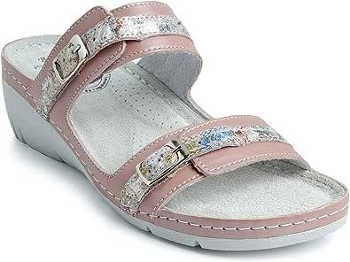 Batz DALMA Leggero e Flessibile di Alta qualità Zoccoli Sabot Pantofole Scarpe, Pelle, Donna