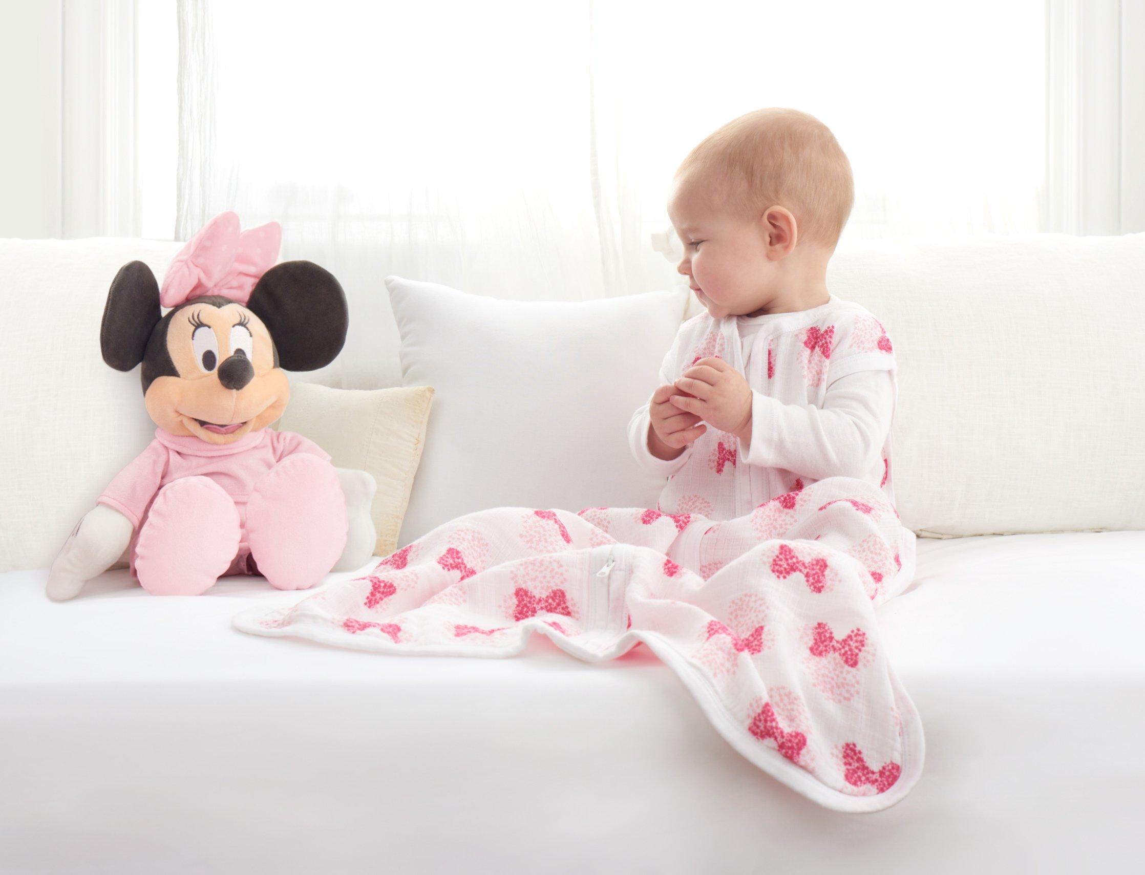 Saco de dormir para el verano aden by aden. Grado de espesor (TOG) 1,0. Estampado de Minnie Mouse (0-6 meses)